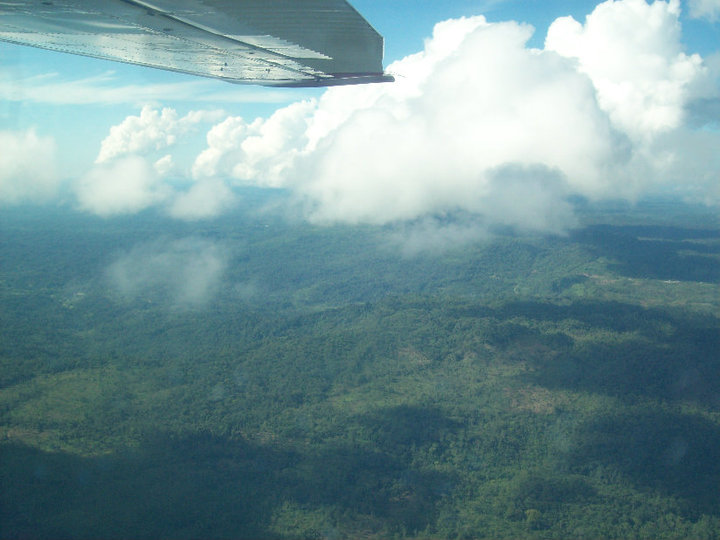 High above the Amazon jungle. We were miles from anything that resembled civilization.
