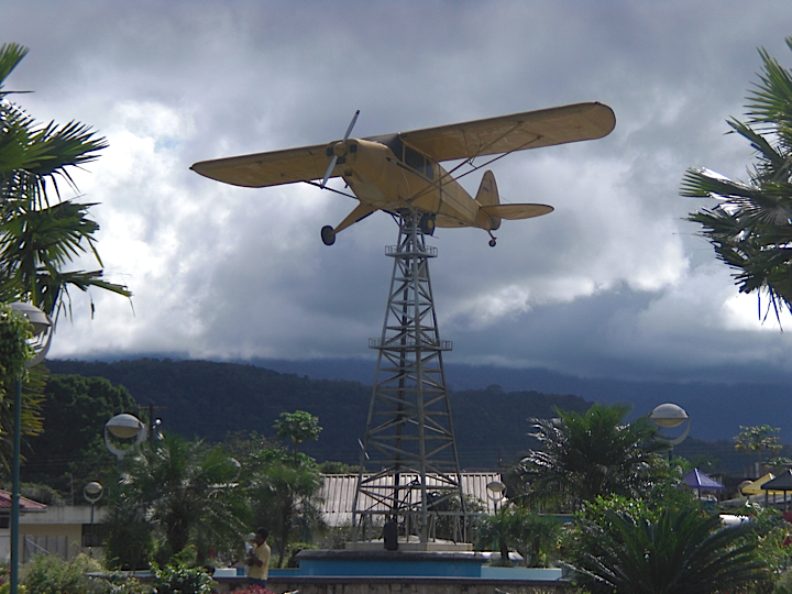 This full-sized model of the plane that Nate Saint flew graces a park in the center of Shell, Ecuador. The story lives on...