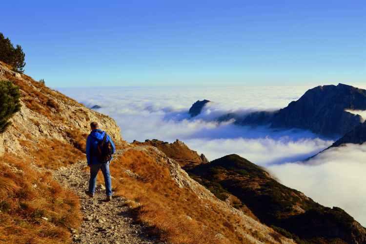 adventure climb climber clouds