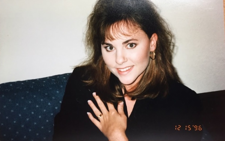 1996.12.15 Kim and engagement ring