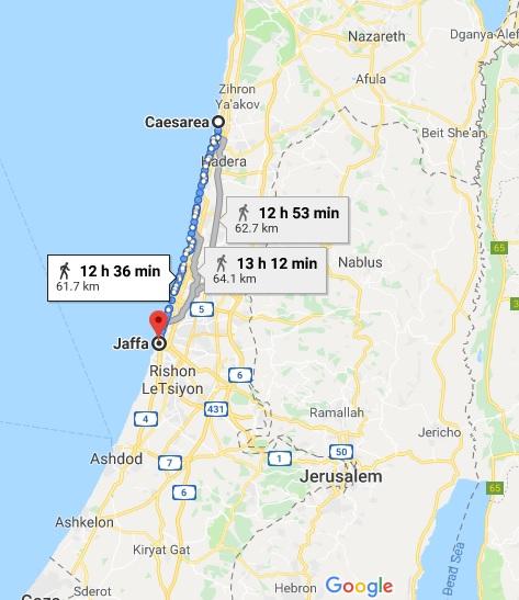 Caesarea to Joppa